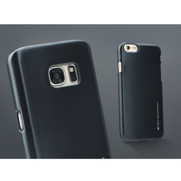 MERCURY BackCase iJelly metallic-schwarz für Samsung G935 Galaxy S7 Edge|